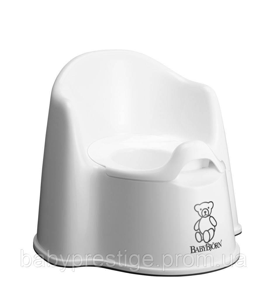 Белый горшок кресло для ванной комнаты Babybjorn