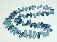 Бусины, голубой с синим хрусталь(100 шт)  5_24_122