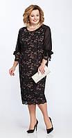 Платье Pretty-809/1 белорусский трикотаж, черный, 56