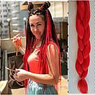 ❤️ Каникалон коса ❤️ для брейд, кос и причёсок красный, фото 3