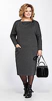 Платье Pretty-830 белорусский трикотаж, серый, 56