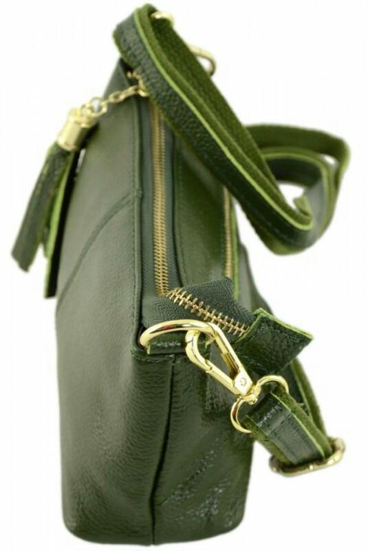 8802ac8a41b3 Кожаная сумка TRAUM 7320-27, женская, зеленая, цена 498 грн., купить в  Киеве — Prom.ua (ID#868873620)