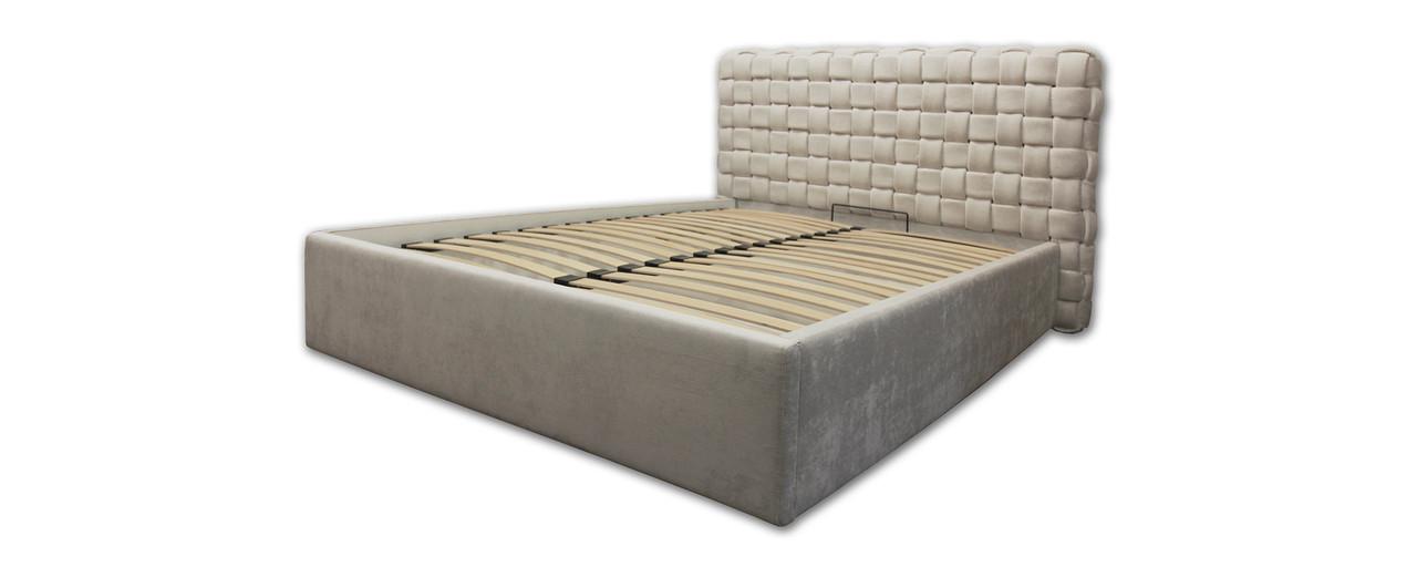 Кровать-подиум «Квадро Люкс» с металлической рамой