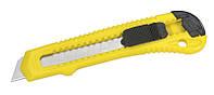 Нож строительный канцелярский с выдвижным лезвием 18мм Stanley ( 1-10-143 ) , фото 1