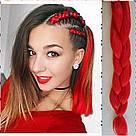 ❤️ Канекалон для кос и брейд ❤️ яркий красный, фото 5