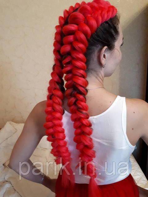 ❤️ Канекалон для кос и брейд ❤️ яркий красный
