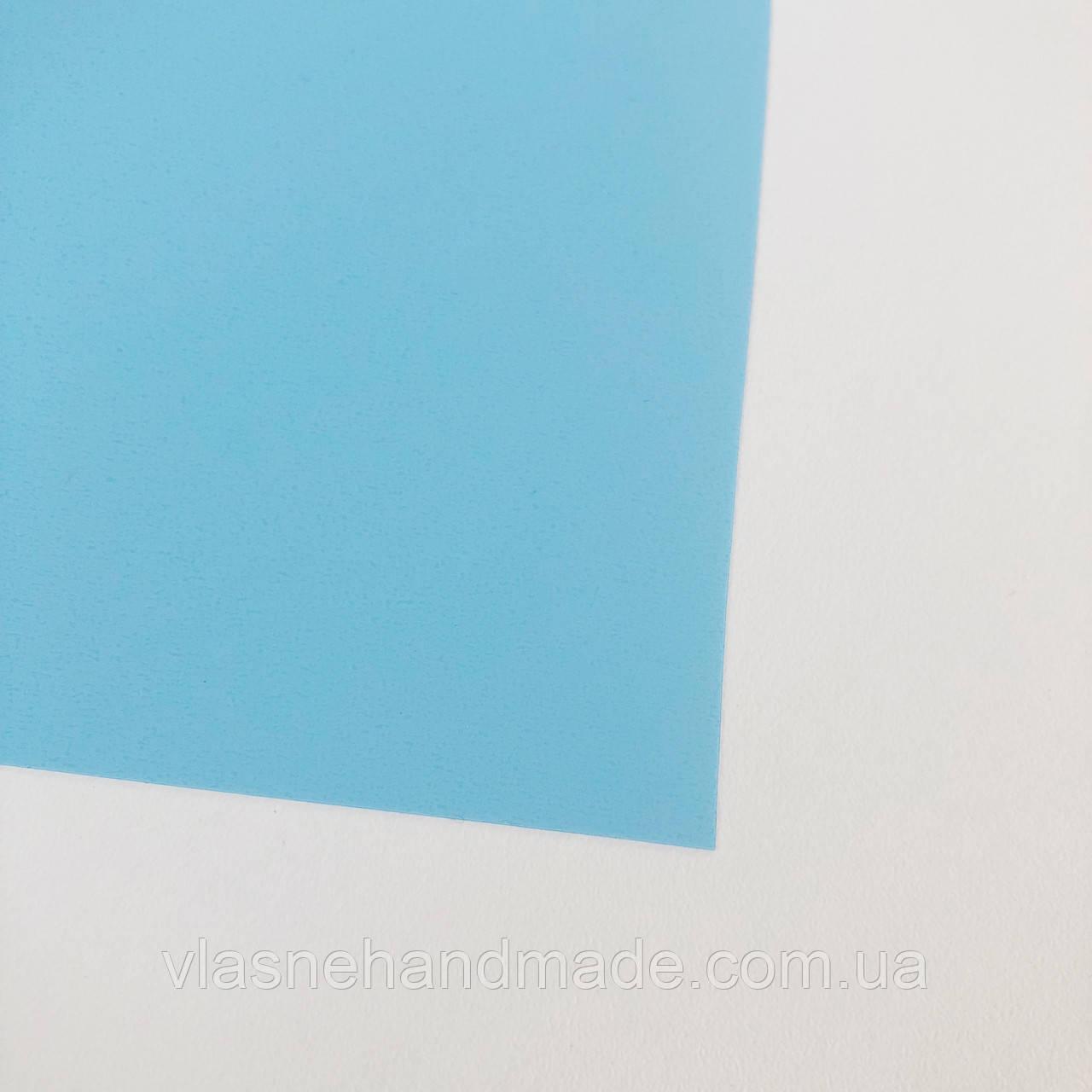 Термотрансферна плівка - матова - світло-блакитна - 10х25 см
