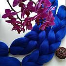 💙 Канекалон однотонный яркий синий, коса 💙, фото 2