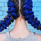 💙 Канекалон однотонный яркий синий, коса 💙, фото 3