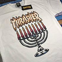 Thrasher футболка женская белая • Бирка трешер • Отличное фото, фото 3