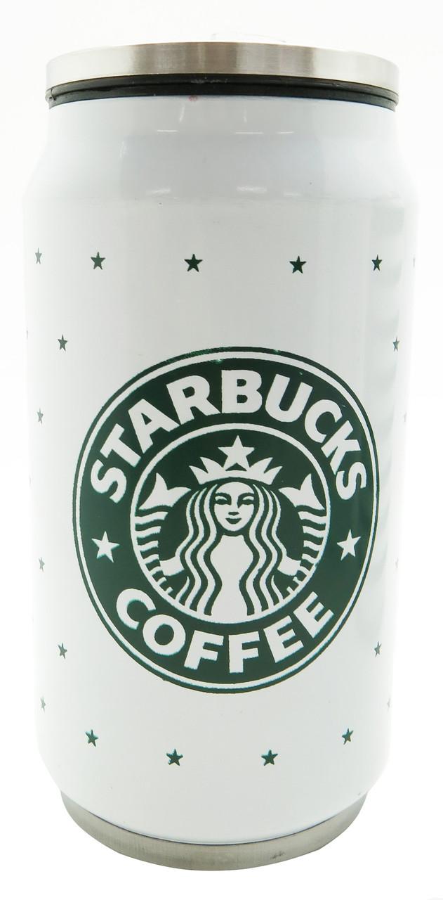 Стильная термо кружка Starbucks 350 мл металический (звездочки)