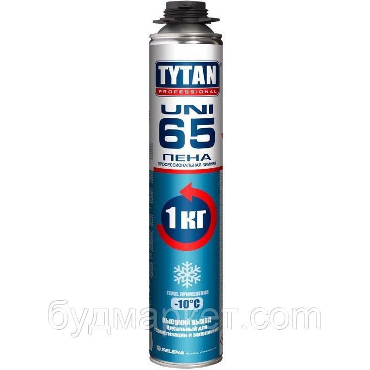 Піна монтажна професійна зимова (-10град) 750мл Tytan О2 65 UNI