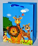 Подарочные пакеты детские 4 вида 23х18х10 см