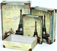 Подарочные коробки для интерьера дома набор 3шт 34-25-12 см