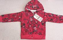 Кофта с капюшоном на змейке для девочки Р-ры 98-104