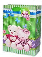 Подарочные пакеты детские Мишки 32х26х10 см