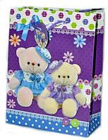 Подарочные пакеты детские Мишки 24х18х8 см