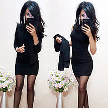 Стильное короткое платье в комплекте с жакетом sh-015 (42-52р, разные цвета), фото 3