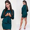 Стильное короткое платье в комплекте с жакетом sh-015 (42-52р, разные цвета), фото 4