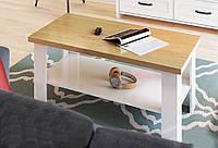 """Журнальний стіл """"Верне"""" (білий та дуб кам`яний), фото 1"""