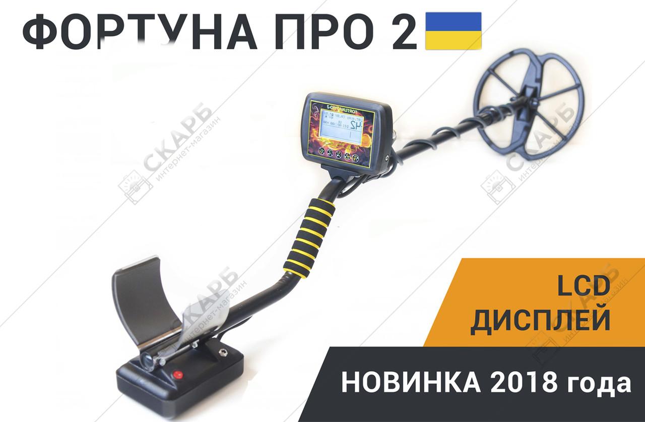 Новинка! Металлоискатель Фортуна ПРО-2 LCD-дисплей 7*4 FM трансмиттер,металошукач