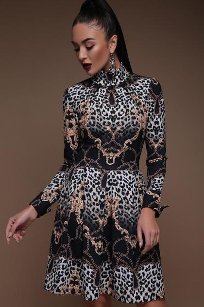 Платье Эльнара д/р Леопард-цепи, фото 1