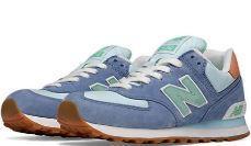9d5db4d2797a Женские кроссовки New Balance 574 (в стиле Нью Баланс) серо-голубой, замш