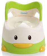 Детский горшок Утёнок, зелёный, Babyhood (BH-114G)