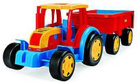 """Трактор """"Гигант"""" с прицепом Wader"""