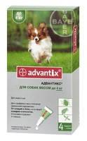 Капли на холку от блох, иксодовых клещей и комаров для собак весом 4 кг Bayer Advantix 1 пипетка