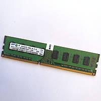 Оперативная память Samsung DDR3 2Gb 1333MHz PC2 10600U CL9 Б/У, фото 1