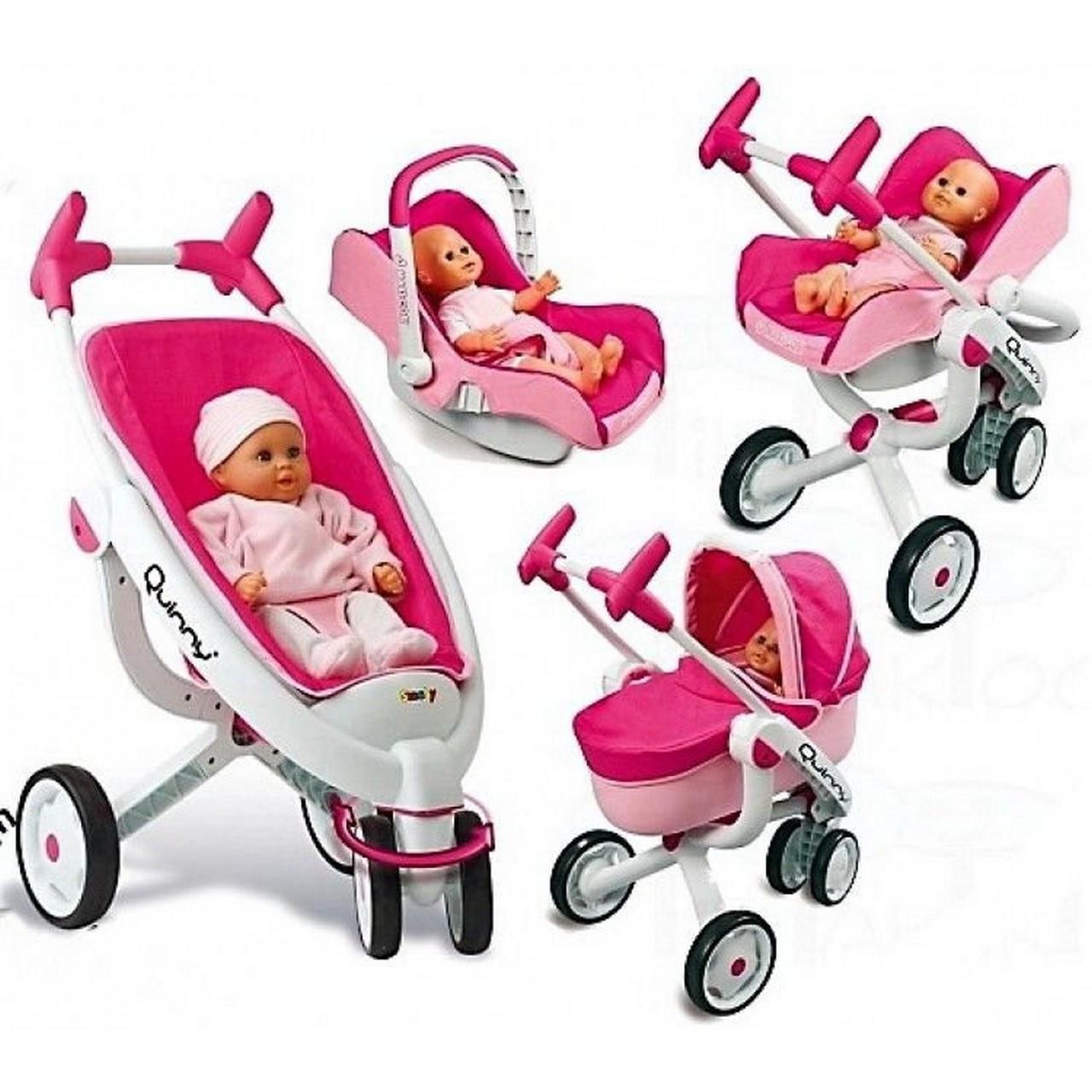 Детская коляска трансформер 4 в 1 для куклы Maxi Cosi Quinny Smoby 550389