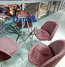 Стеклянный стол Т-316 D80 от Vetro Mebel, ноги хром, фото 2