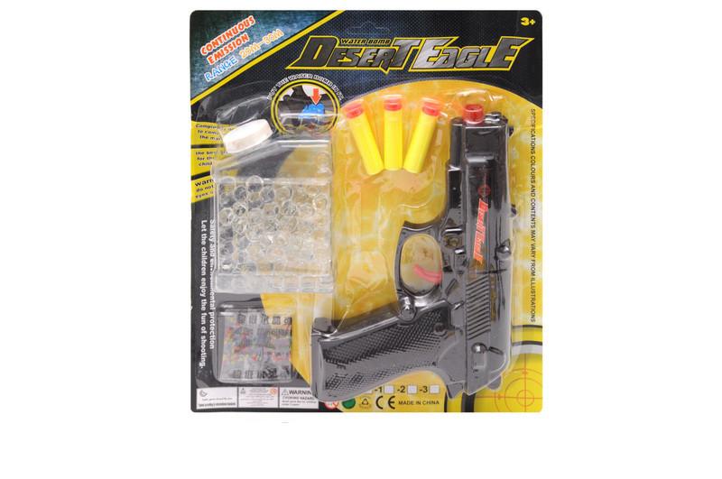 Пистолет Double с гелевыми и поролоновыми пулями