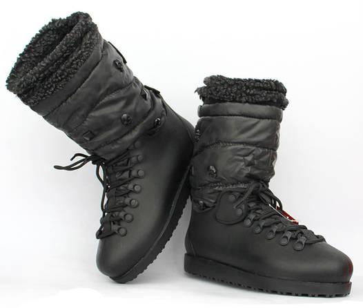 Жіночі гумові спортивні чоботи утеплені на шнурівці (Ч-906ч ... fb555b3ee795f