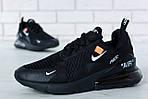 Чоловічі кросівки Nike Air Max 270 (чорні) весна-осінь, фото 2