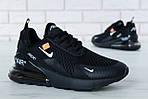 Чоловічі кросівки Nike Air Max 270 (чорні) весна-осінь, фото 4