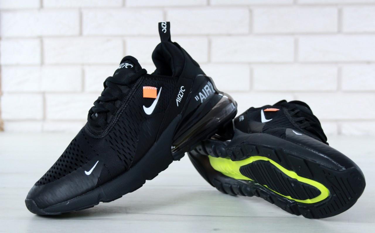 Чоловічі кросівки Nike Air Max 270 (чорні) весна-осінь