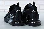 Чоловічі кросівки Nike Air Max 270 (чорні) весна-осінь, фото 6