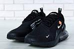 Чоловічі кросівки Nike Air Max 270 (чорні) весна-осінь, фото 7