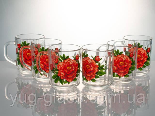 Набор стеклянных чашек 250 мл