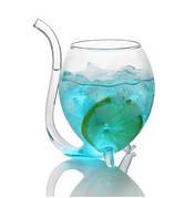 Бокал для вина и других напитков оригинальной формы) стеклянная трубка 300 мл.