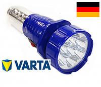 Фонарь светодиодный аккумуляторный, походный фонарь, туристическая лампа, аварийное освещение Зеленый