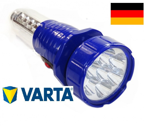 Фонарь светодиодный аккумуляторный, походный фонарь, туристическая лампа, аварийное освещение Голубой