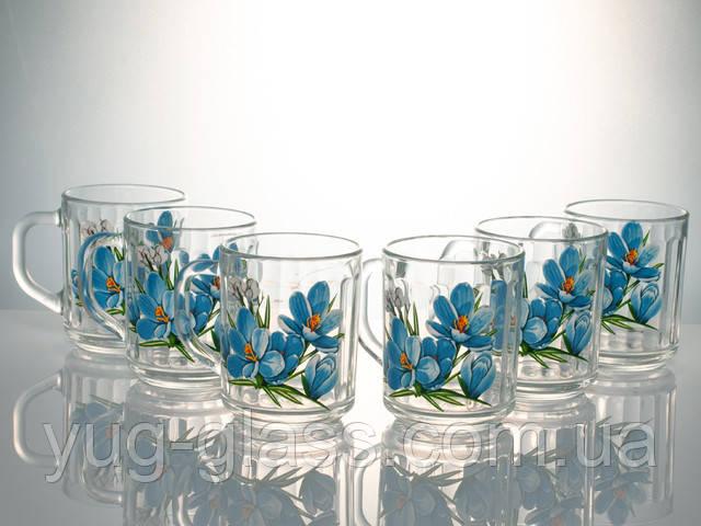 Красивые стеклянные кружечки для кофе