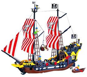 Конструктор Brick 308 Пиратский корабль, 870 деталей