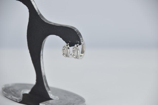 Серебряные серьги, серьги 925 пробы, серьги из стерлингового серебра, женские серьги,  серьги цирконием
