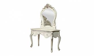 Стол туалетный Провен без зеркала, белый с позолотой