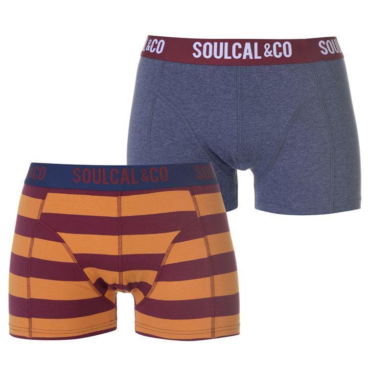Боксерки мужские SoulCal Trunk Boxers Pack of 2