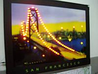 Картина с неоновой подсветкой San Francisko, фото 1